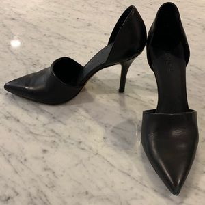 BLACK VINCE LEATHER PUMPS